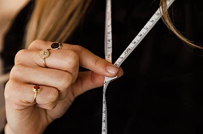 Manier 3   Gebruik een meetlint om de lengte te meten